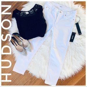 🌿- HUDSON tally mid rise skinny crop white de…